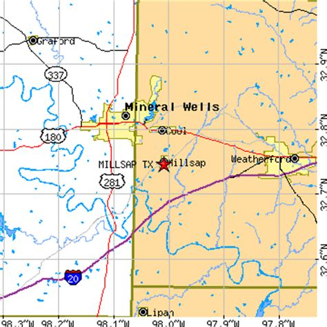 santo texas map millsap texas tx population data races housing economy