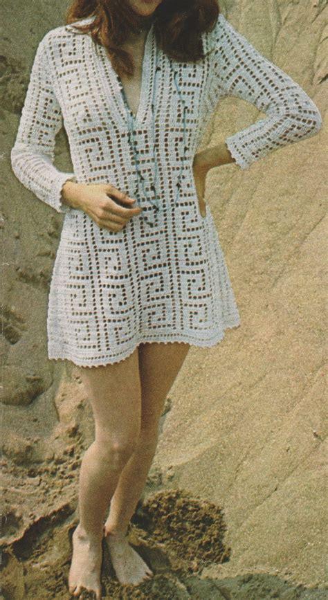 Modèles De Rideaux Au Crochet Gratuits by Crochet Robe De Plage 70s Tutoriel Gratuit Le De