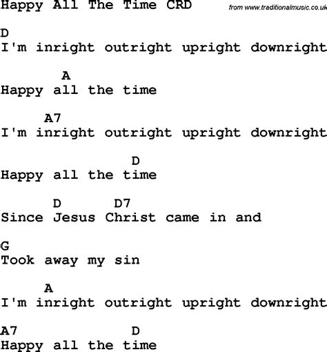 all the time christian childrens song happy all the time lyrics and chords