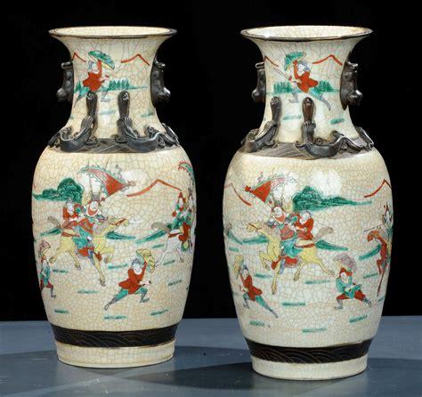vasi giapponesi coppia di vasi in porcellana giappone epoca liberty