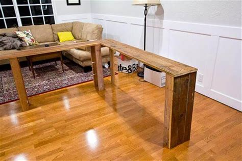 diy behind the couch table sofa table made from pallets 99 pallets