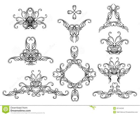 set of filigree patterns stock vector image of creative