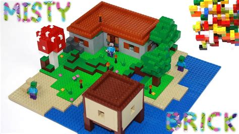 lego minecraft house minecraft lego steve s house 2 by misty brick youtube