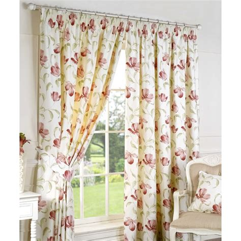 Pink Floral Curtains Sundour Ascot Pink Floral Readymade Pencil Pleat Curtains Sundour From Emporium Home Interiors Uk