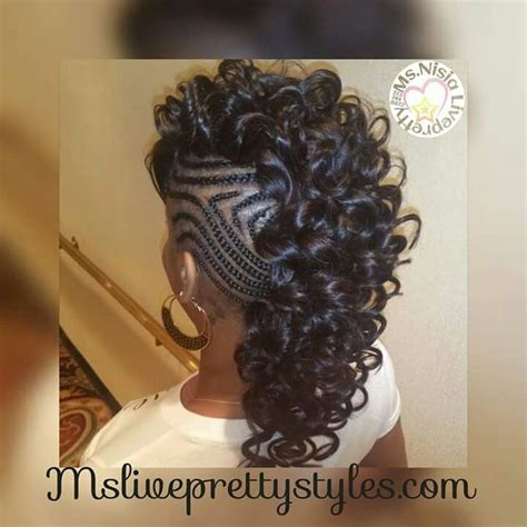 Mohawk Hairstyle For Black Crochet by Best 25 Braided Mohawk Hairstyles Ideas On