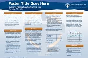 poster presentation template 24x36 our of the lake scientific poster powerpoint