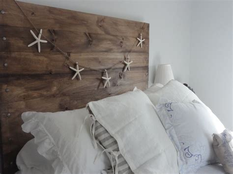 beachy headboard ideas i love the look of starfish garland with the reclaimed