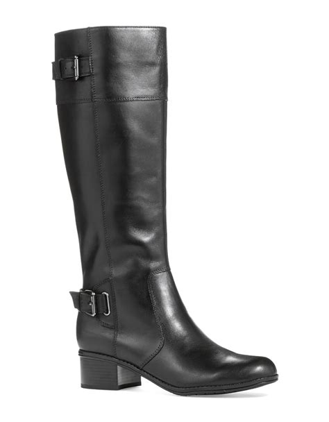 bandolino boots bandolino castin knee high boots in black lyst