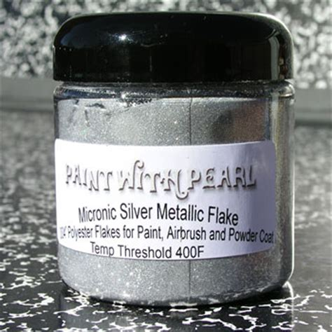 silver metal flake for custom paint color shift pearls