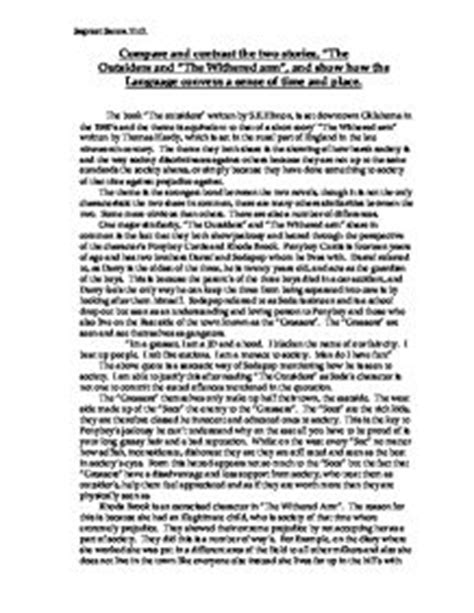 Two Story Compare Contrast Essay by Compare And Contrast Essay Between Two Stories Websitereports991 Web Fc2