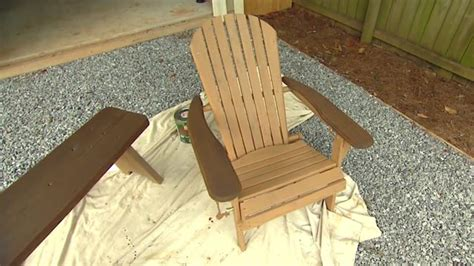 clean  stain outdoor wood furniture todays