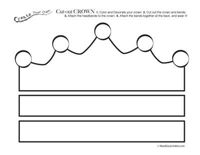 printable image of a crown free printable cut out crown coloring page free