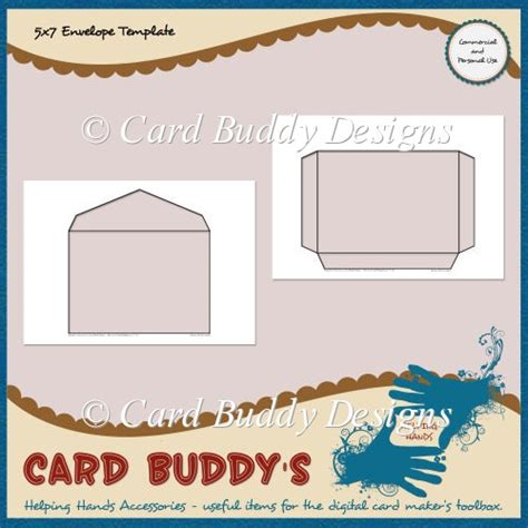 5x7 card template 5x7 envelope template cu pu 163 1 80 scrapbookingmad