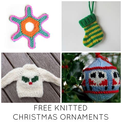 knitted christmas decorations 11 festive free knitted ornaments
