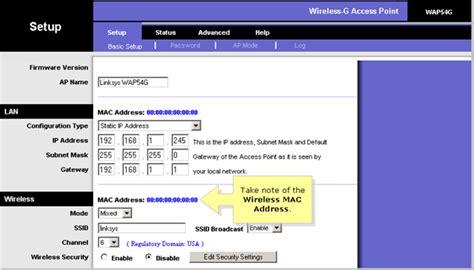 Wifi Mac Address Lookup Arindam Bhadra Linksys Wireless G