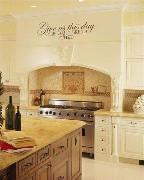 kitchen backsplash stickers 2018 wall decals daily bread scripture vinyl wall words stickers graphics 22 00 via etsy