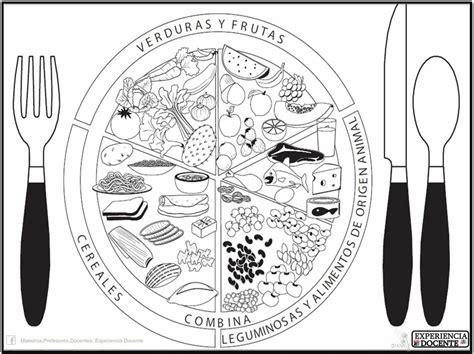 imagenes para colorear plato del buen comer plato del buen comer vida saludable pinterest plato