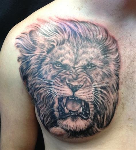 animal chest tattoos depiction gallery tattoos nature animal