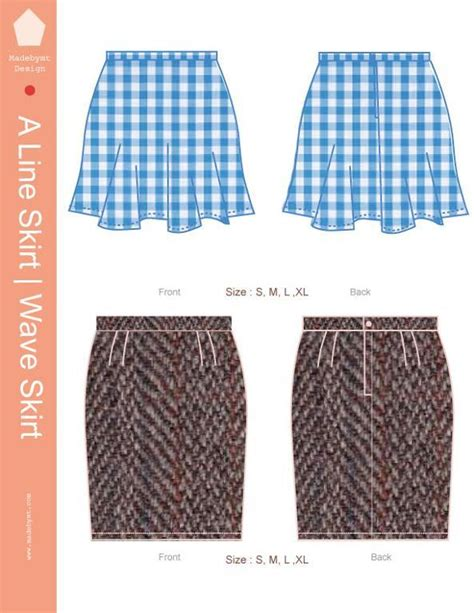 a line skirt wave skirt by madebymt craftsy