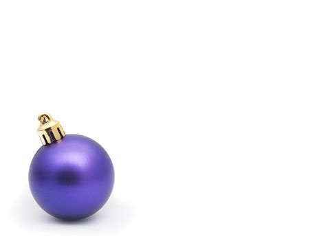 photo of single purple christmas bauble free christmas