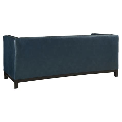 blue leather tufted sofa imperial bonded leather sofa button tufted blue dcg