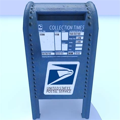 Post Office Drop Box by Usps Mailbox 3d Dxf