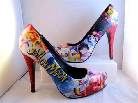 sailor high heels sailor moon high heels with glitter made to order via