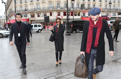 Who Wore Louis Vuitton Better Beckham Or Dita Teese by David And Beckham Leave With Louis Vuitton