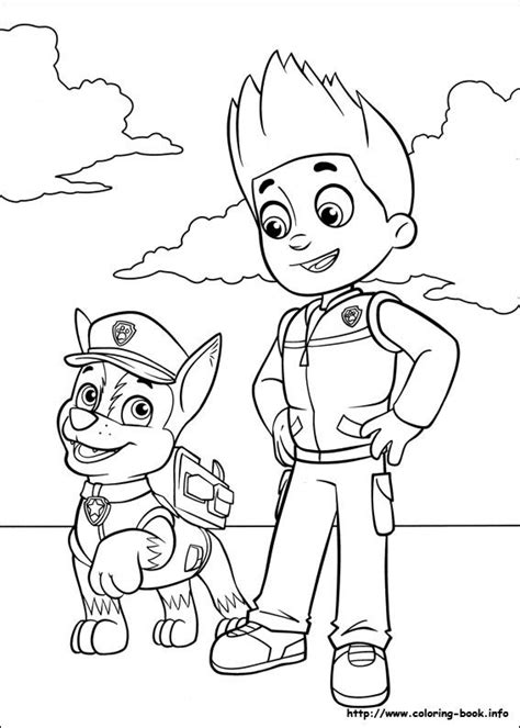 puppy patrol coloring page 25 best ideas about ryder paw patrol on pinterest ryder