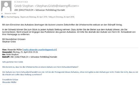 Mit Freundlichen Grã ã En Herrn Matthias Schwaibold 187 Dailytalk Ch 187 Schweizer Politikblog