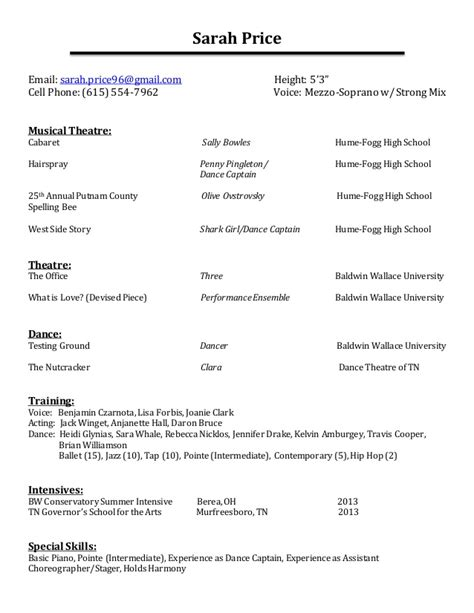 Performance Resume by Performance Resume