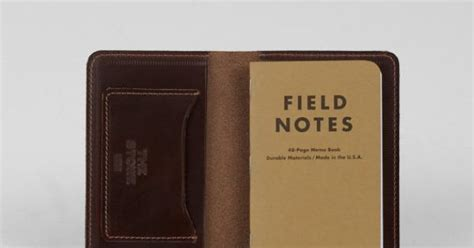 Edda Medium Wallet field notes wallet in horween leather manly stuff