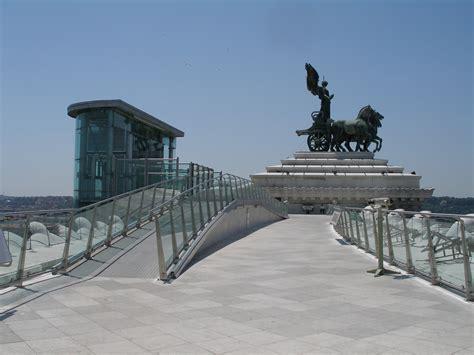 terrazza vittoriano il vittoriano e piazza venezia port mobility civitavecchia