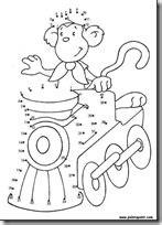fichas infantiles dibujos para unir con números - Colorear