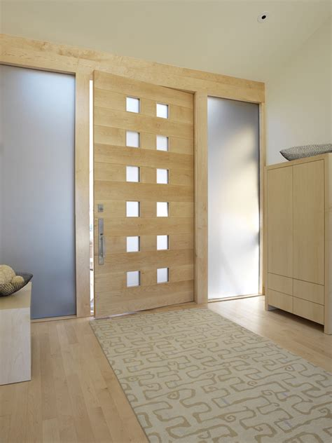 modern wood doors modern wood front door