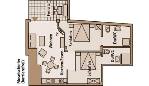 2 Schlafzimmerapartment Layout by Mosel Ernst Ferienhaus Moselschiefer