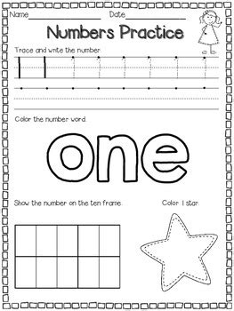 numbers 1 10 printable book numbers 1 10 by latoya reed teachers pay teachers