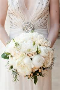 wedding flower bouquet classic white roses and peonies wedding bridal bouquet 1411594 weddbook