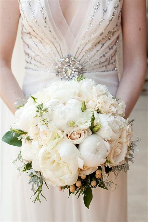 classic roses and peonies wedding bridal bouquet
