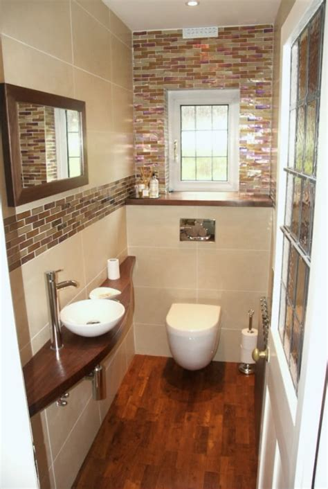 pretty little cloakroom but wouldn t have wood in a bathroom again difficult to maintain water