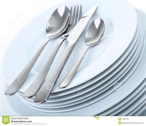 and cutlery plates and cutlery royalty free stock photography image