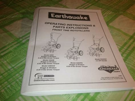 earthquake operating instructions parts explosions font