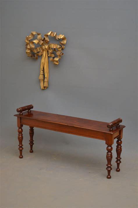 antique mahogany bench elegant victorian hall bench in mahogany antiques atlas