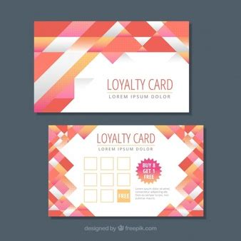 Loyalty Card Design Template by Shopping Barcode Icons Free
