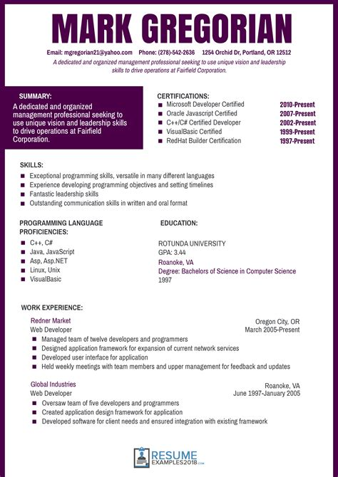 resume format 2018 free best free resume templates 2018 to use