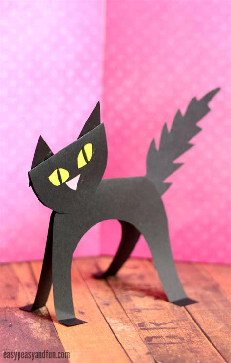 cat paper craft simple black cat paper craft easy peasy and