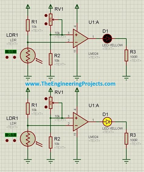 photodiode in proteus how to use ldr sensor in proteus the engineering projects