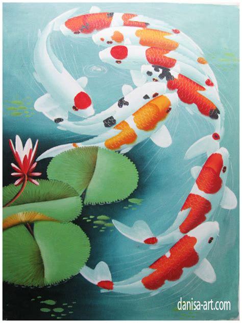 lukisan ikan koi murah membawa keberuntungan