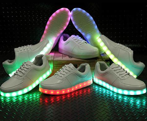 Led Frozen Walker Shoes korea fashion couples led colorful fluorescent usb