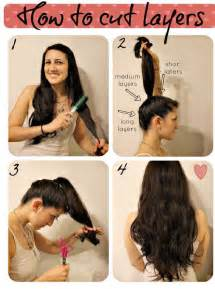 ponytail shag diy haircut how to make a layered haircut on your own pretty designs